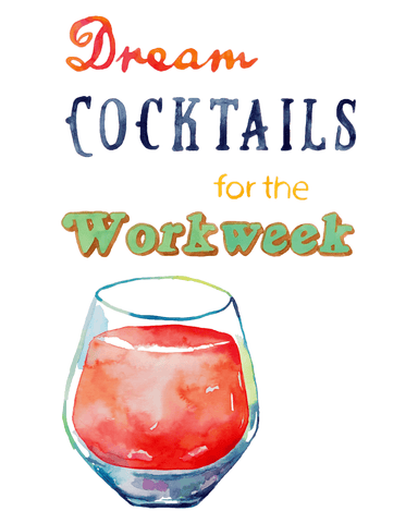Editorial Illustration Illustrated Watercolor Cocktails by Artist and Illustrator Jordan McDowell
