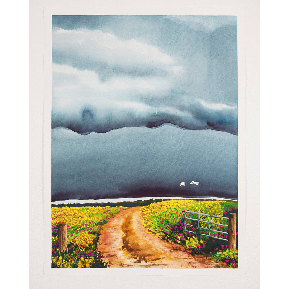 Charise | Stormy Fields Collection | SOLD - Jordan McDowell - art print - painting - home decor