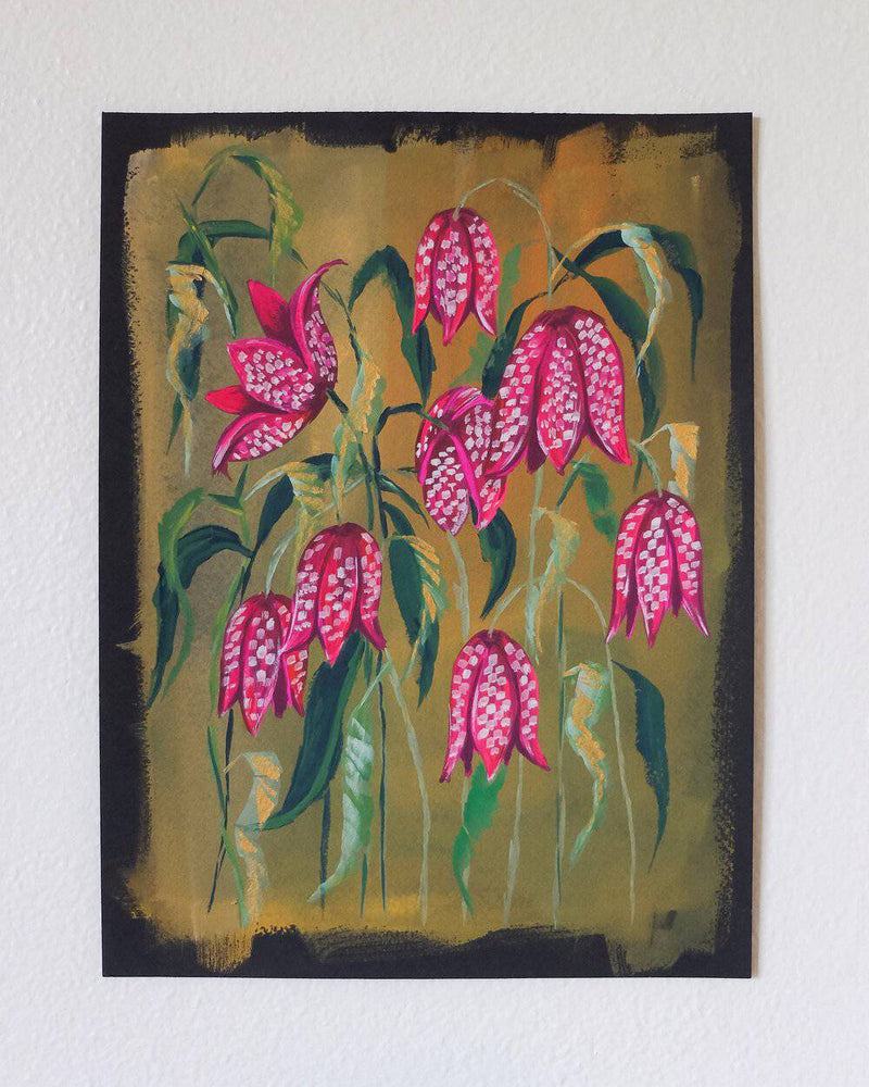 "Load image into Gallery viewer, ""Fritillaries"" Original Fine Art Painting - Jordan McDowell - art print - painting - home decor"