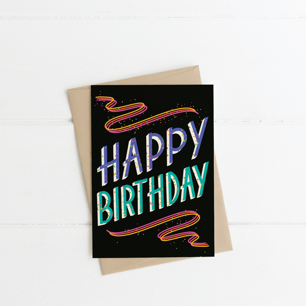 """Happy Birthday"" Greeting Card - Jordan McDowell - art print - painting - home decor"