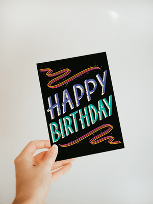 "Load image into Gallery viewer, ""Happy Birthday"" Greeting Card - Jordan McDowell - art print - painting - home decor"