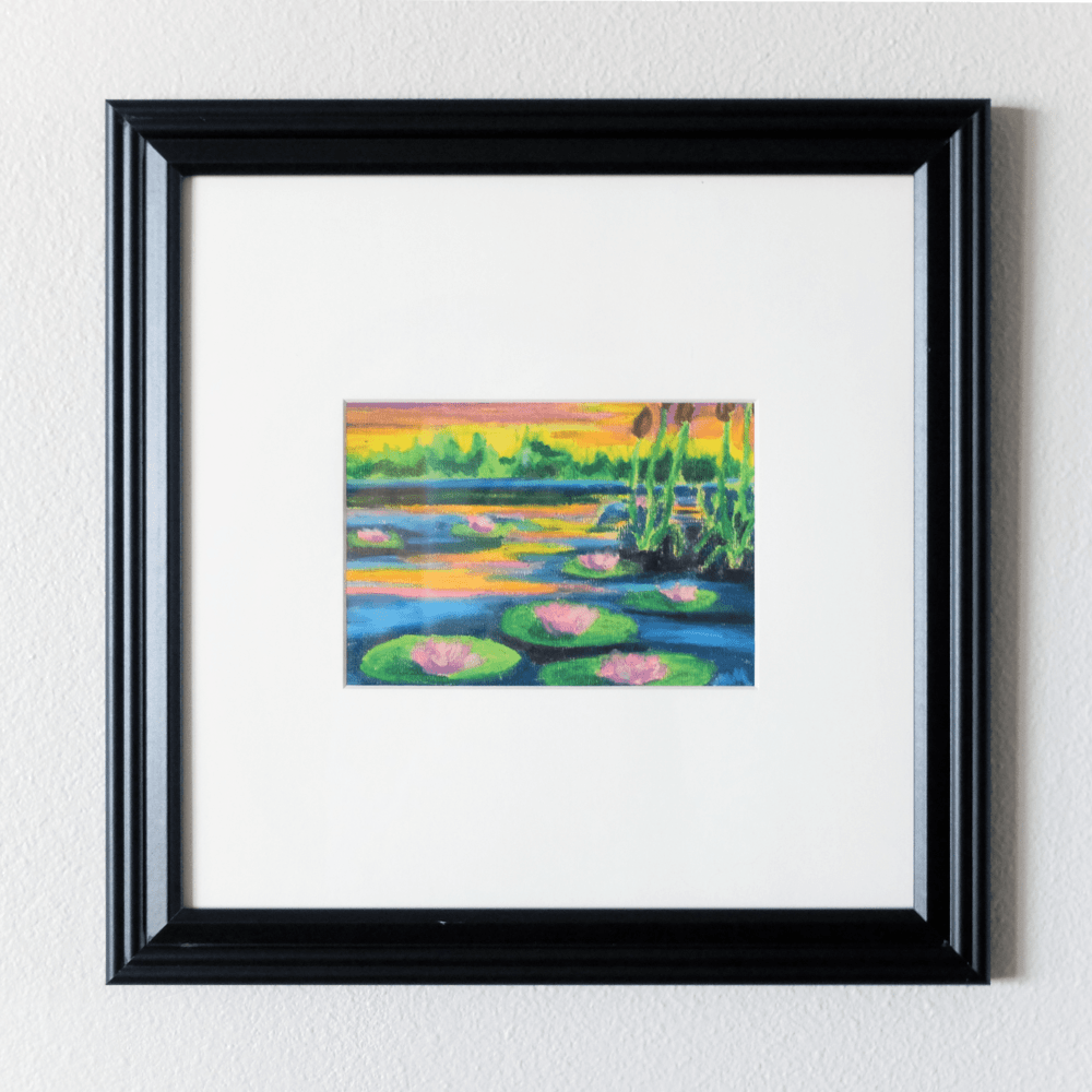 "Load image into Gallery viewer, ""Lily 002"" Framed Original Oil Pastel Painting - Jordan McDowell - art print - painting - home decor"