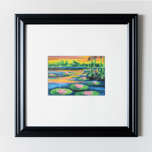 """Lily 002"" Framed Original Oil Pastel Painting - Jordan McDowell - art print - painting - home decor"