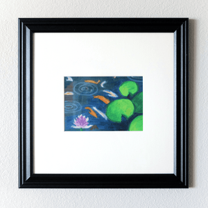 """Lily 008"" Framed Original Oil Pastel Painting - Jordan McDowell - art print - painting - home decor"
