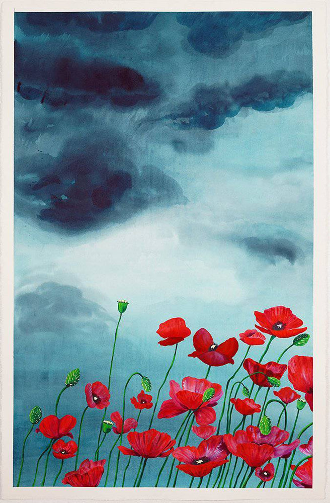 Umnia | Stormy Fields Collection | SOLD - Jordan McDowell - art print - painting - home decor