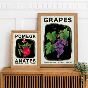 Load image into Gallery viewer, Bundle Pack of Three 30x40 cm Flowering Fruit Posters - Jordan McDowell - art print - painting - home decor