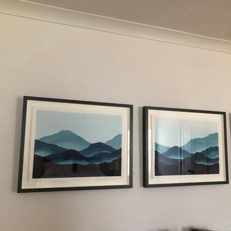 Mei Triptych | Blue Ridge Mountain Collection | SOLD - Jordan McDowell - art print - painting - home decor