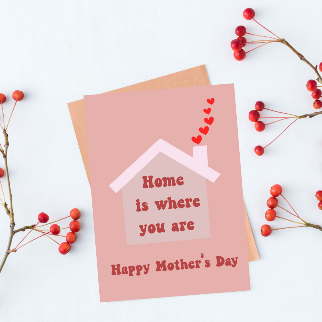 Home is Where You Are - Mother's Day Greeting card