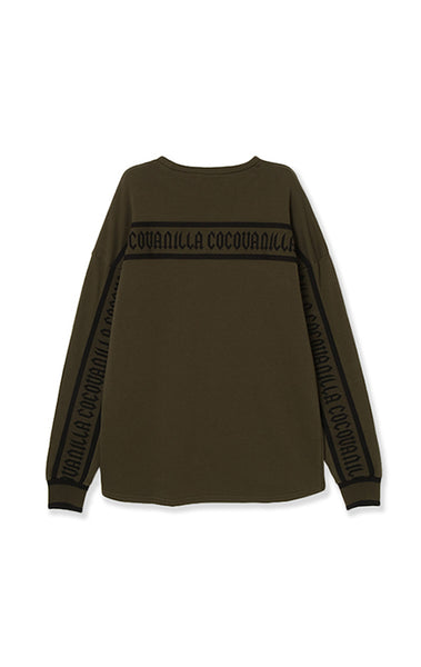 【50%OFF】 Logo long sweat/3color