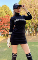 Logo knit tunic/2color