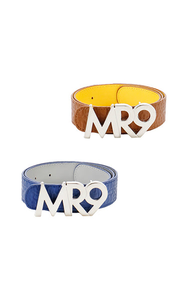 MR9 logo reversible belt/2color