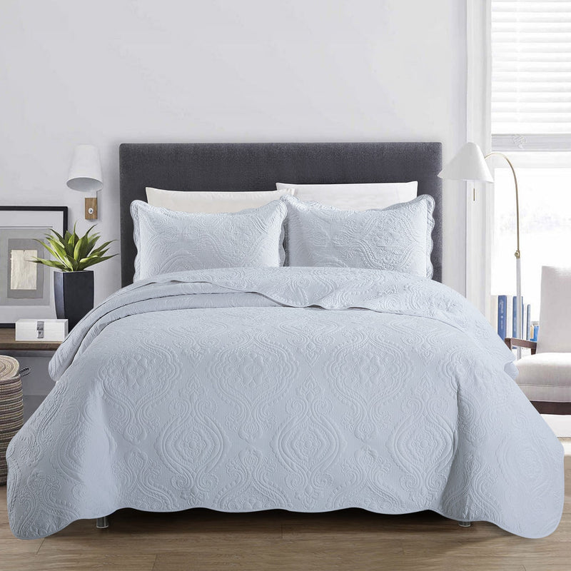 Luxury Bedding White Cotton Bedspread Set
