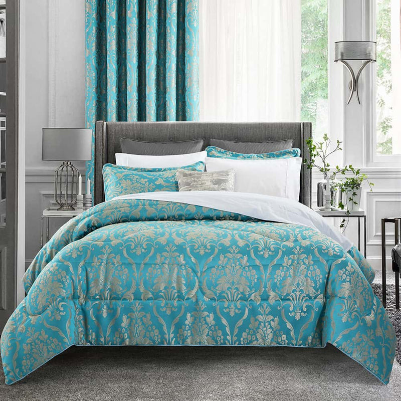 Luxury 3 Piece Jacquard Quilted Bedspread Set