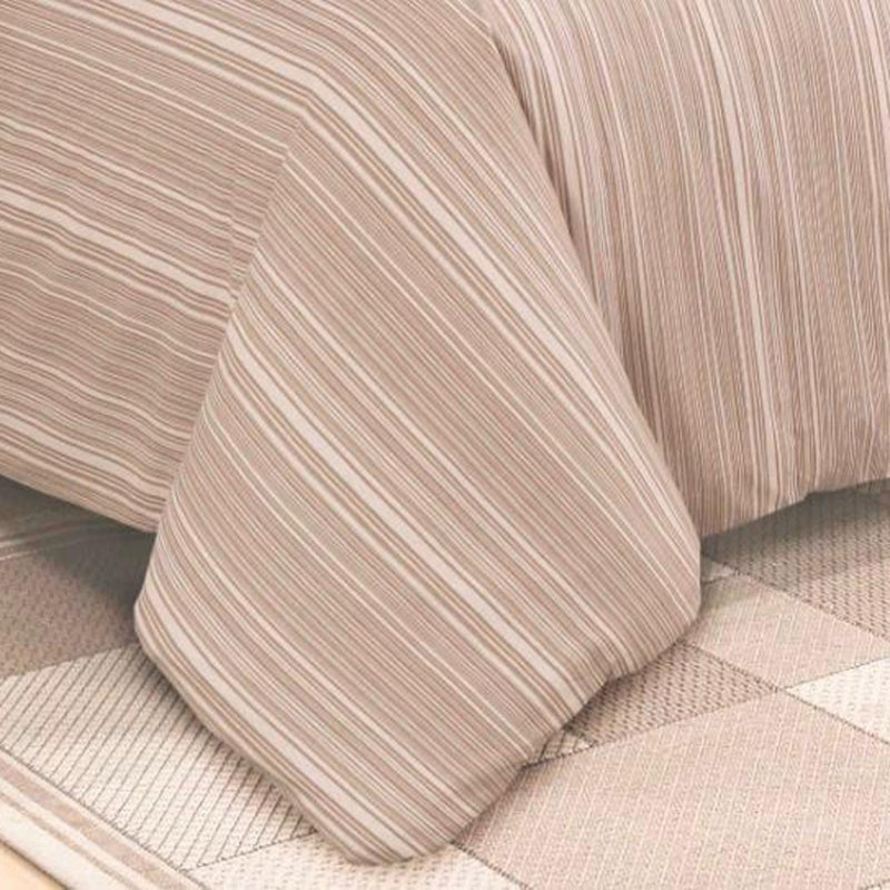 Egyptian Cotton 4 piece Brown Striped Duvet Covers
