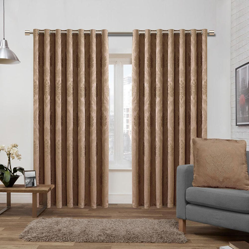Bedroom Curtains Eyelet Caramel