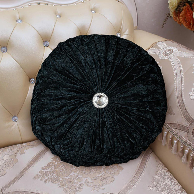 Crushed Velvet Cushion Covers and Filled Black