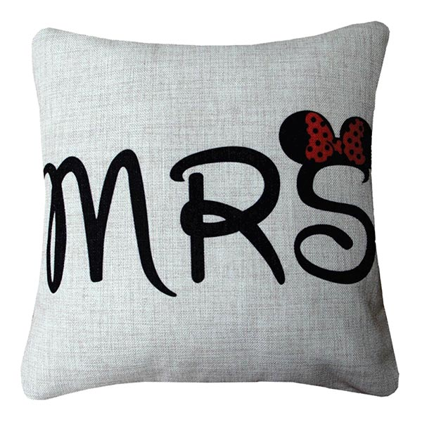 Mr & Mrs Filled Cushions & Covers