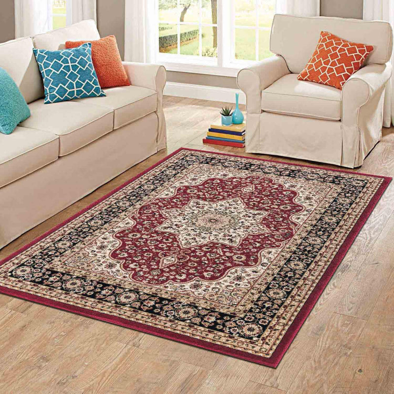 Rome Traditional Design Red Turkish Rugs