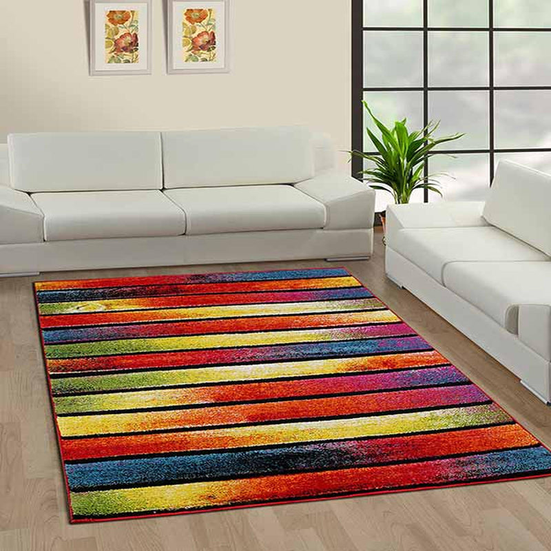 Modern Multi Colored Striped Rugs
