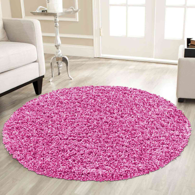 Super Soft Plain Shaggy Pink Rugs