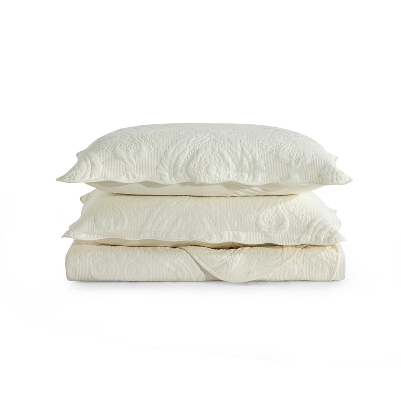 Luxury Bedding Cream Cotton Bedspread Set