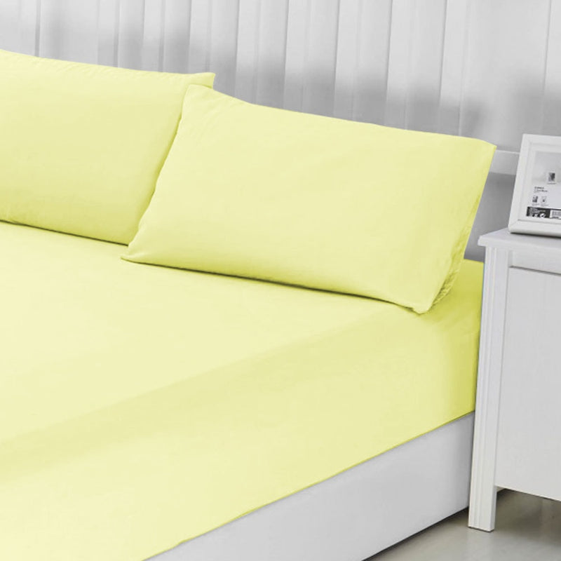 100% Egyptian Cotton Cream Fitted Bed Sheet