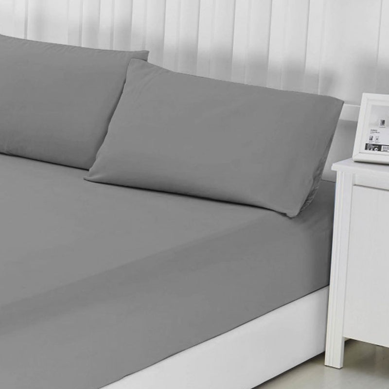 100% Egyptian Cotton Grey Fitted Bed Sheet