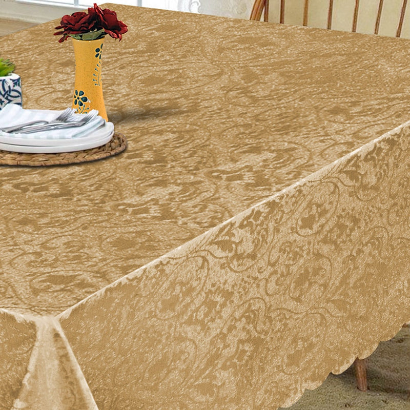 Gold Rectangle & Round Table Cloth & Covers Napkin and Runners