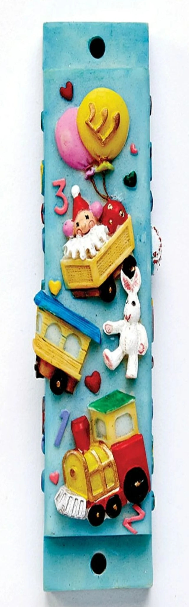 Train Design Mezuzah for Kids Room