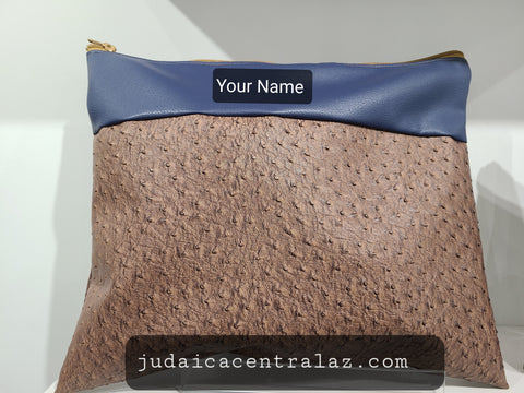 Tallit Prayer Shawl Bag-Mulitple Styles  faux  Leather with Custom Embroidery of your Name included