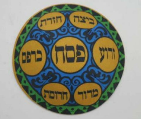 Seder Plate Design Kippah for Passover Holiday
