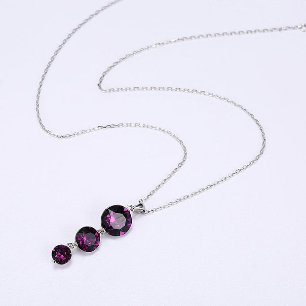 Sterling Silver Necklace with Swarovski Crystals