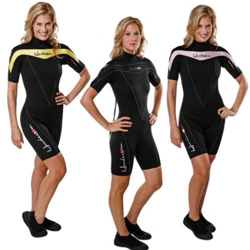 Henderson Woman Thermoprene 3mm Shorty (Back Zip) Scuba Diving Wetsuit - DIPNDIVE