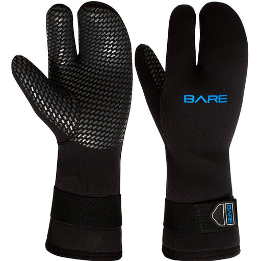 Bare 7mm Unisex Three-Finger Scuba Dive Mitts - DIPNDIVE