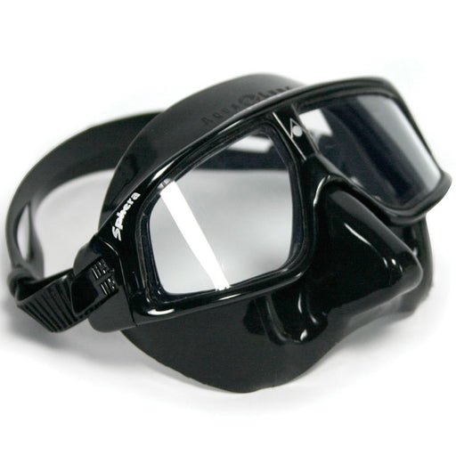 AquaLung Sphera Black Silicone Frame Mask - DIPNDIVE