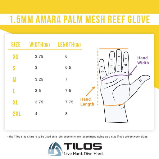 Tilos 1.5mm Tropical X Mesh Gloves - DIPNDIVE