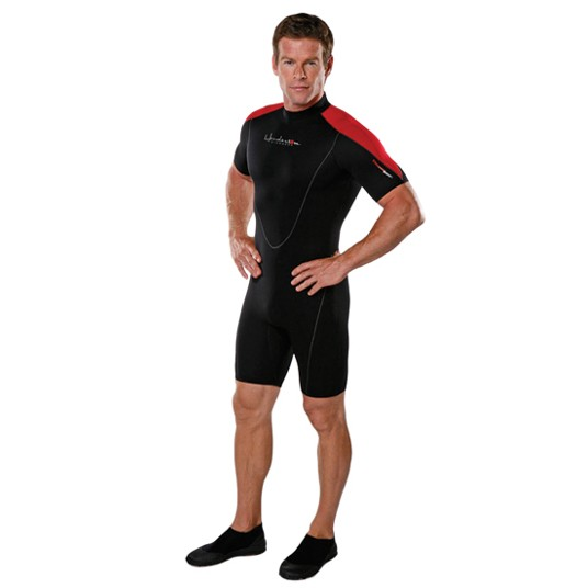 Henderson Man 3mm Thermoprene Shorty (Back Zip) Scuba Diving Wetsuit - DIPNDIVE