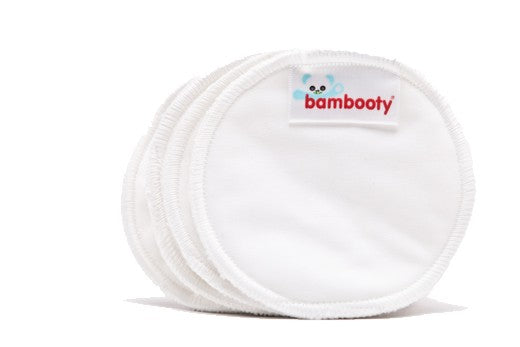 Bamboo Boobies Nursing Pads - Plain white, smooth finish