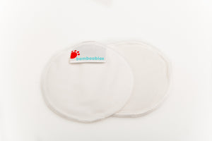 Load image into Gallery viewer, Bamboo Boobies Nursing Pads - Plain white, smooth finish
