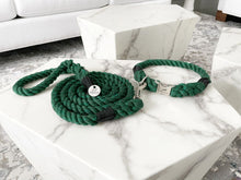 Load image into Gallery viewer, Cotton Rope Collar and Leash Set