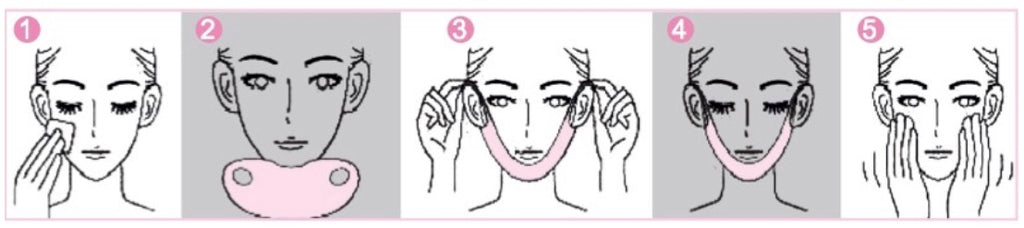 how to apply lifting collagen mask