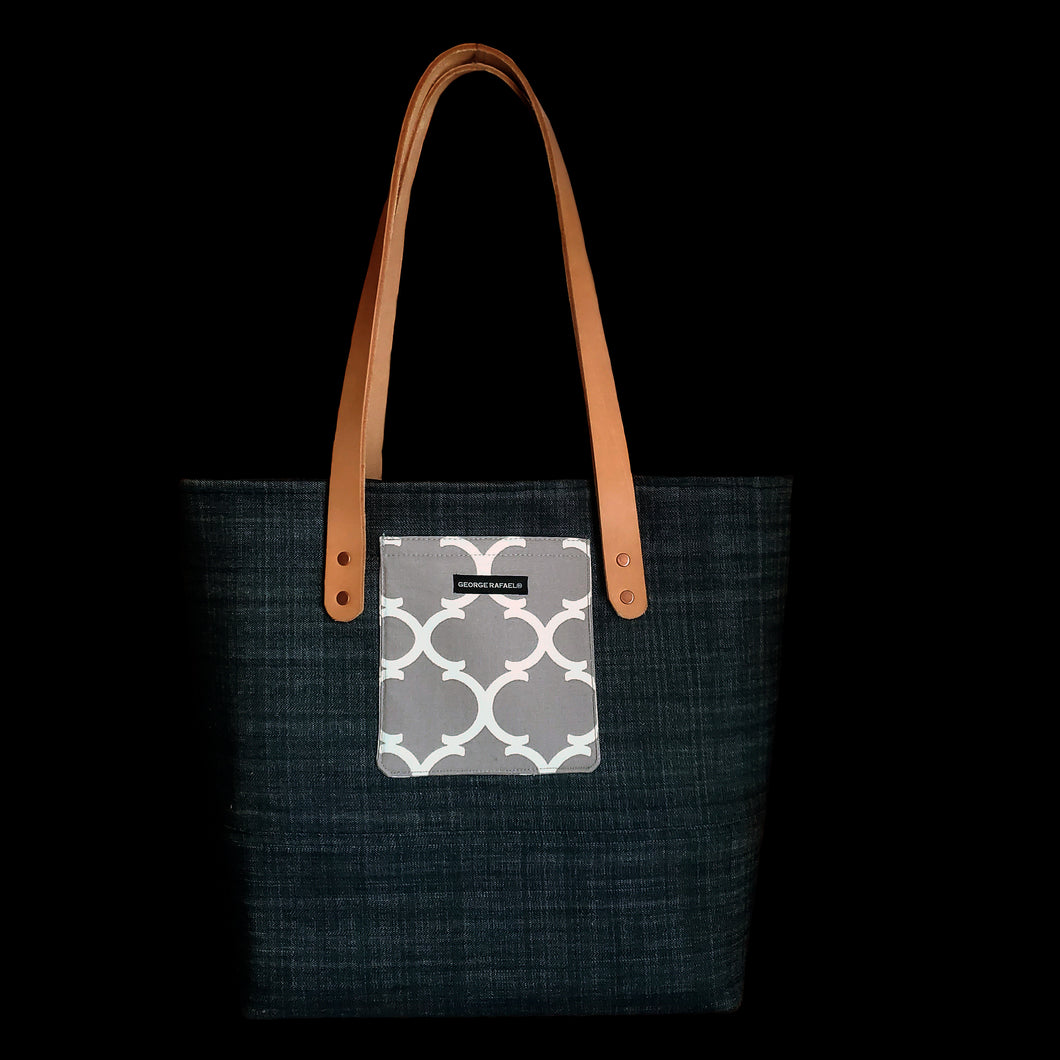 The Forever Tote - Denim & Gray