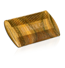 """6IXMAN"" Jade Sandalwood Comb - Natural Antistatic & Pocket Size"