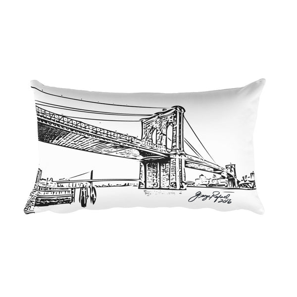 "Pillow - ""Brooklyn Bridge and Tokens"""