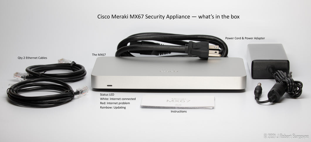 Cisco Meraki MX67 Security Appliance - what's in the box