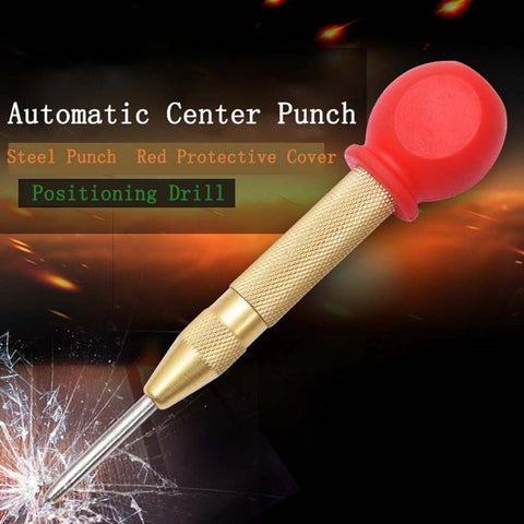 Automatic Center Pin Punch Spring Loaded Marking Starting Holes Tool Wood Press Dent Marker Woodwork Tool Drill Bit