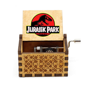 Jurassic Park Music Box You Are My Sunshine Wooden Hand Crank Music Christmas Gift Birthday Gift New Year's Gift Dropshipping