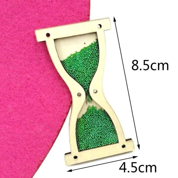 Homemade hourglass Educational Wooden Toys Children Busy Board Math Fishing Children's Wooden Preschool  Toy Counting DIY