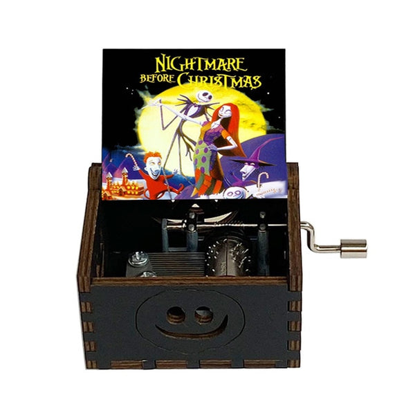 Wooden Music Box Halloween Christmas Gift Friends Husband Wife Daughter Son, this is a Halloween Music Box