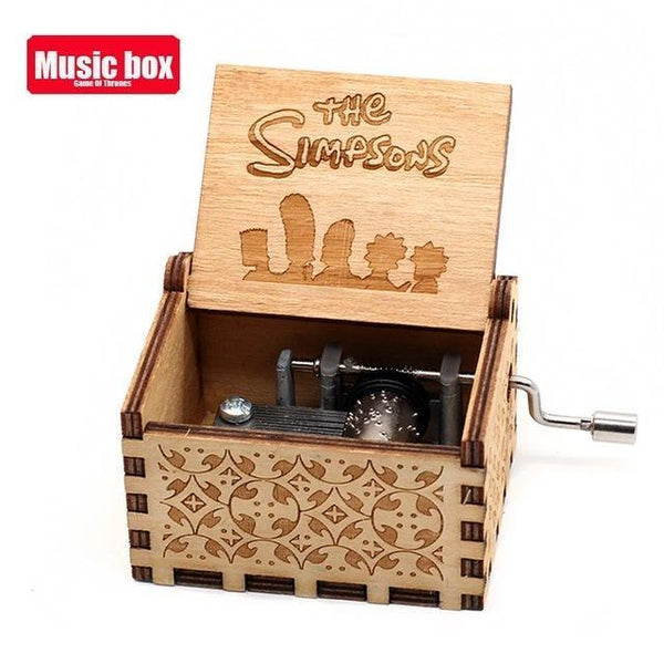 Hot Antique Wooden Hand Crank Music Box Davy Jones Can't help falling in love You Are My Sunshine Theme Christmas Gift